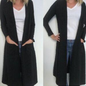 Lularoe Black Sarah long duster cardigan XS
